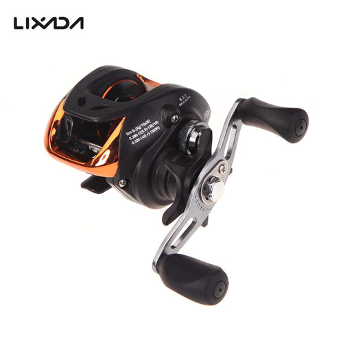 Lixada Fishing Reel 10+1BB Ball Bearings Right/Left Baitcasting Reel 6.3:1 Carp Fishing Coils Gear 203g AF103 carretilha - Discount Fishing Tackle
