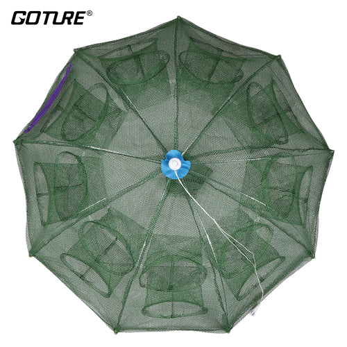 Goture Automatic Fishing Net Shrimp Cage Nylon Foldable Crab Fish Trap Cast Net Cast Folding Fishing Network - Discount Fishing Tackle