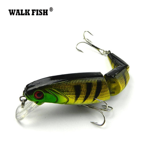 Walk Fish 1Pcs 10.5cm 15g Japan Wobbler 3-sections Fishing Lures Minnow Swimbait Crankbait Hard bait isca artificial Leurre Pech - Discount Fishing Tackle