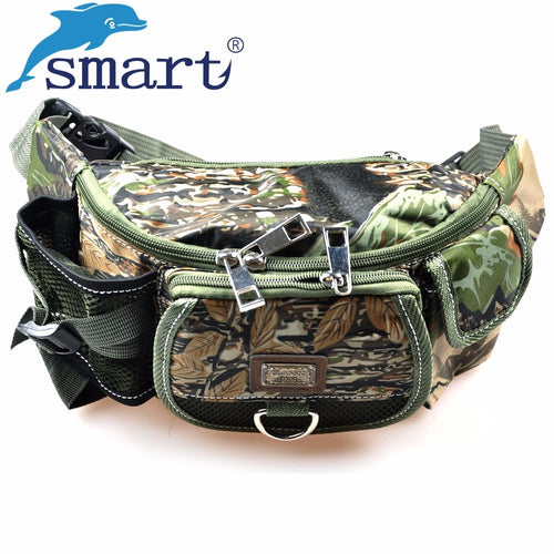 Smart New Fishing Bag 30x9x14cm Multifunctional Outdoor Fishing Tackle Bagpack Waterproof Waist Bag Bolsa Pesca Free Shipping - Discount Fishing Tackle