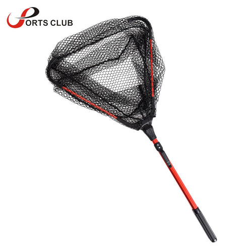 Lixada Fly Fishing Landing Net Triangle Brail net 80cm Nylon Fishing Net crayfish catcher trap for fish casting net - Discount Fishing Tackle