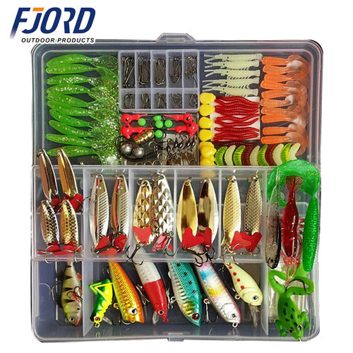 Hot New Multi Fishing Lure Mixed Colors Plastic Metal Bait Soft Lure Kit Fishing Tackle Wobbler Spoon Pesca Peche Artificias - Discount Fishing Tackle
