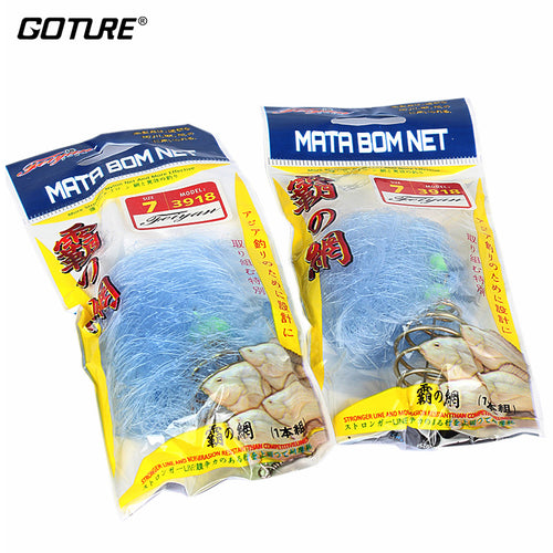 Goture 4pcs/lot Nylon Fishing Net Copper Spring Connector With Luminous Beads Carp Folding Network - Discount Fishing Tackle