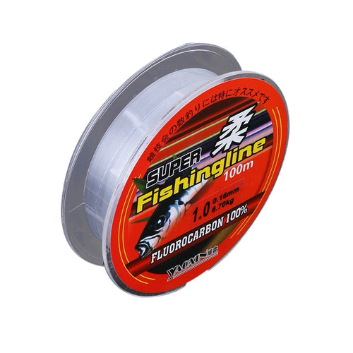 100% Transparent Nylon Fluorocarbon Fishing Lines Super Strong 100 M  16 ModelsFishing Tackle Non-Linen  Fishing line - Discount Fishing Tackle