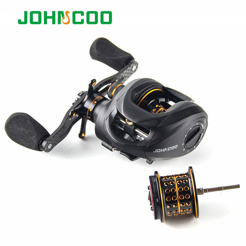 Fishing Reel 13+1 Bearings 2 Control Systems Bait Casting Reel with spare spool Centrifugal & Magnetic Baitcasting Reel 2 spools - Discount Fishing Tackle