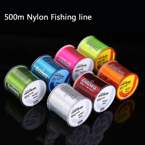 500m Nylon Fishing Line Japan Durable Monofilament Rock Sea Fishing Line Daiwa Thread Bulk Spool 3.5LB-40.5LB for Carp fishing - Discount Fishing Tackle