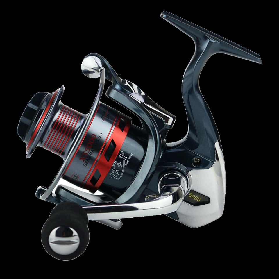 WALK FISH 13+1BB Spinning Fishing Reel Metal XS1000-7000 Series Spinning Reel Fishing Tackle - Discount Fishing Tackle