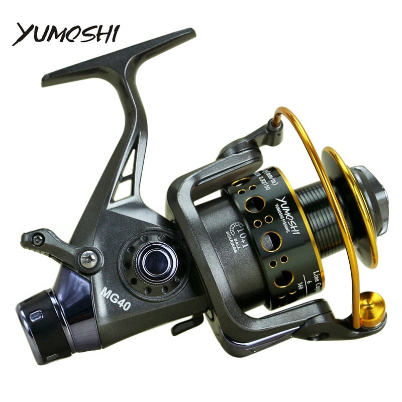 2018 New Double Brake Design Fishing Reel Super Strong Carp Fishing Feeder Spinning Reel Spinning wheel type fishing wheel MG - Discount Fishing Tackle