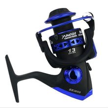 Professional Fishing Wheel 13 BB BK1000-7000 Series 5.1:1 speed reatio spinning fishing reel interchanged left/right hand wheel - Discount Fishing Tackle