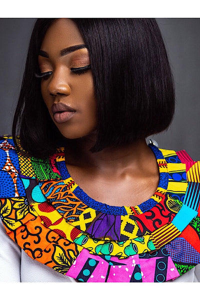 Pleated Ankara Collar