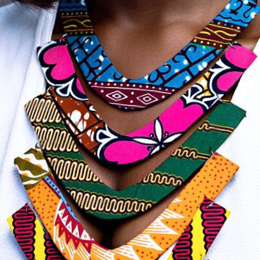 Ankara Tiered Necklace