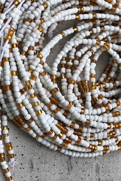 Mykonos White and Gold Waist Beads