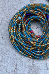 Blue Crystal Waist Beads