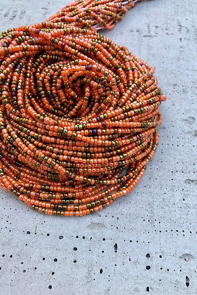 Peach and Bronze Waist Beads