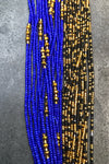Blue Magic Tie On Waist Bead Set