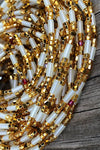 Gold Crystal Glow in the Dark Waist Beads