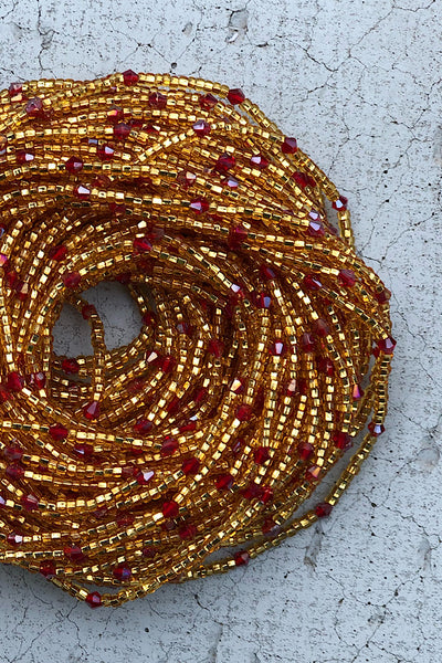 Orisha Red Crystal Waist Beads
