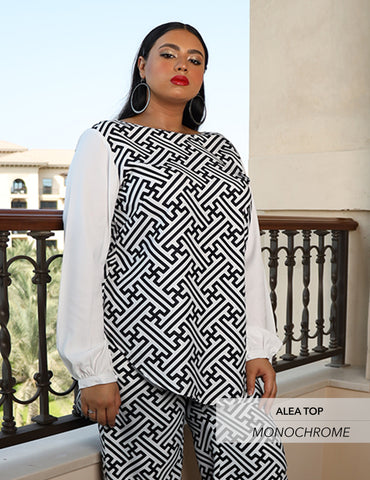 Maaryam - ALEA Monochrome Top