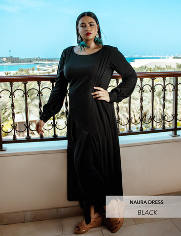 Maaryam - NAURA Black Dress