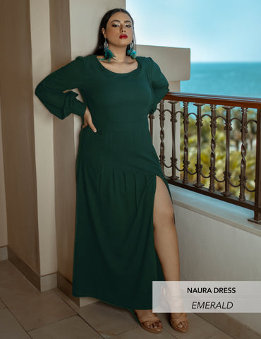 Maaryam - NAURA Emerald Green Dress