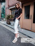 Ruffle Pants | White