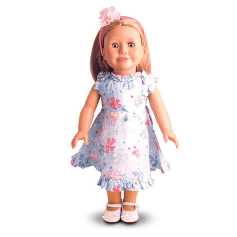 Treasured Dolls Pretty Blue Bow dress.