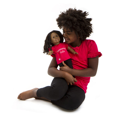 RED TEE MATCHIING FOR GIRL AND DOLL