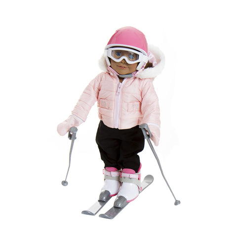 Treasured Dolls Pink Ski Suit with Logo