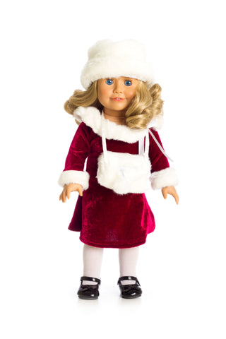 Christmas Dress with Hat and Muff