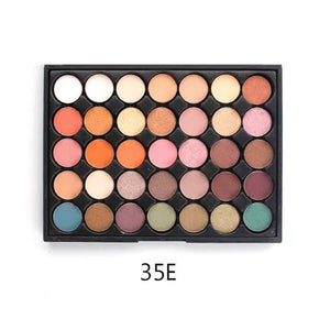 350 - 35 Color Nature Glow Eyeshadow Palette 35E