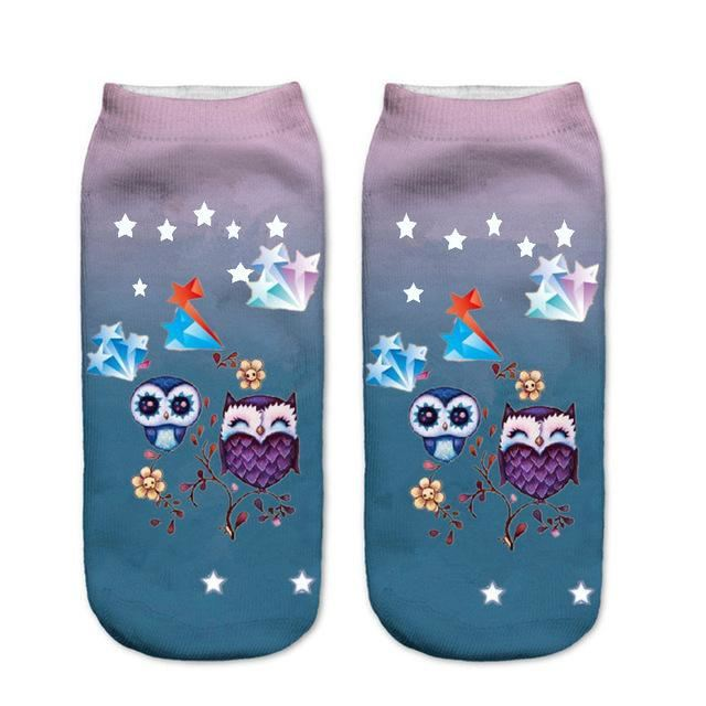 Animal Ankle Socks 7 / One Size