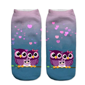 Animal Ankle Socks 9 / One Size