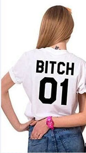 Best Friend Bitch T-Shirt White 01 / S