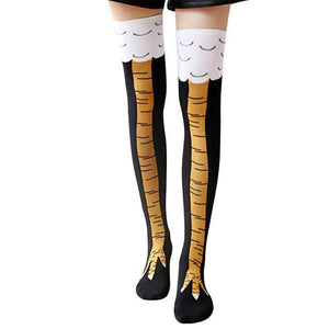 Chicken Socks Over Knee Socks