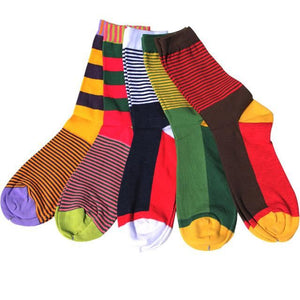 Classy Colorful Socks - 5 Pair Group12
