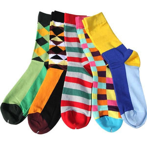 Classy Colorful Socks - 5 Pair Group13