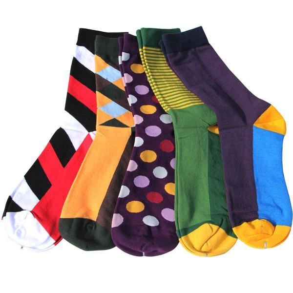 Classy Colorful Socks - 5 Pair Group14