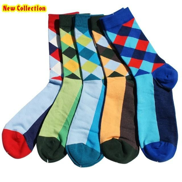 Classy Colorful Socks - 5 Pair Group20