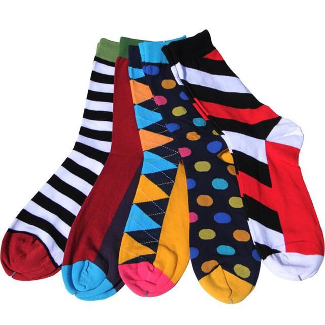 Classy Colorful Socks - 5 Pair Group3