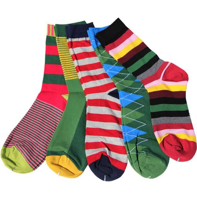 Classy Colorful Socks - 5 Pair Group6