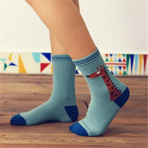 Colorful Happy Socks Blue Deer / One Size