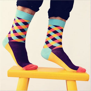 Colorful Happy Socks Blue Tops / One Size