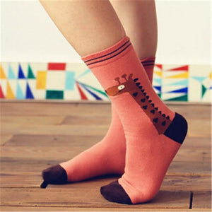 Colorful Happy Socks Red Deer / One Size