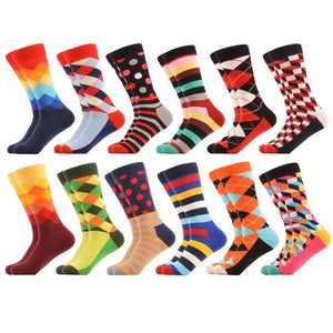Crazy Colorful Socks Pack (12 Pairs)