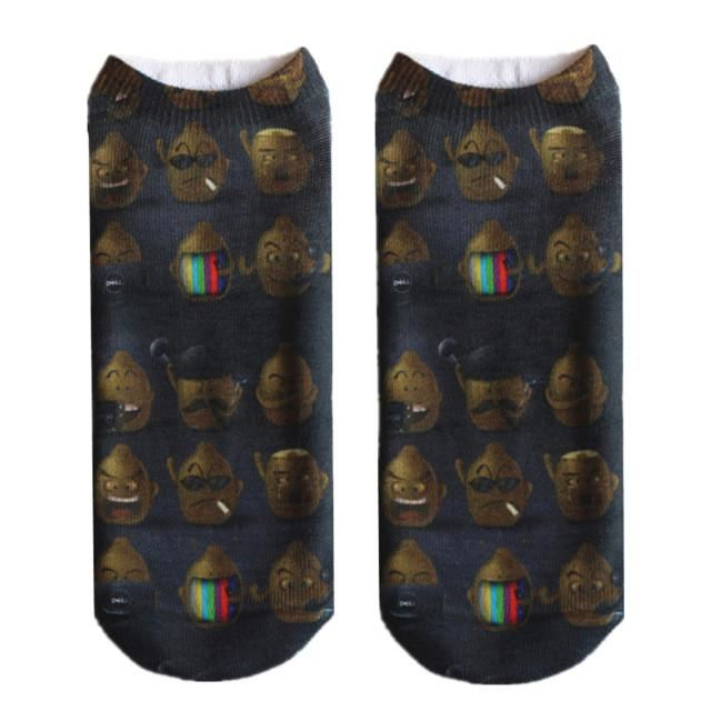 Crazy Printed Skull Socks Image 7
