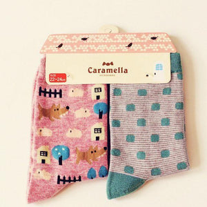 Cute Animal Pattern Socks - 2 Pairs Image 14 / China Free Size