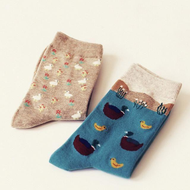 Cute Animal Pattern Socks - 2 Pairs Image 15 / China Free Size