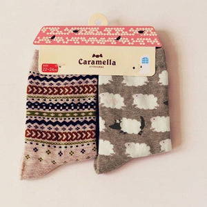 Cute Animal Pattern Socks - 2 Pairs Image 16 / China Free Size