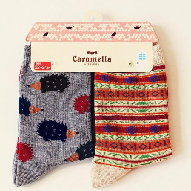 Cute Animal Pattern Socks - 2 Pairs Image 4 / China Free Size