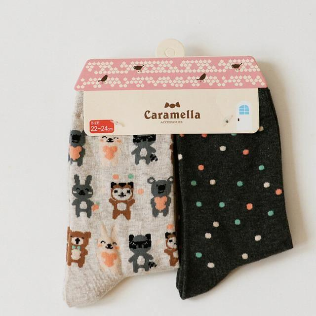 Cute Animal Pattern Socks - 2 Pairs Image 6 / China Free Size